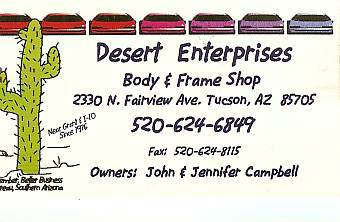 Desert Enterprises Body and Frame Shop
