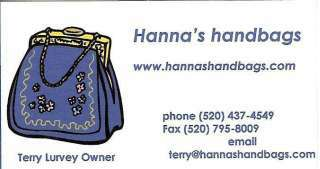Hannah Bags - Terry Lurvey
