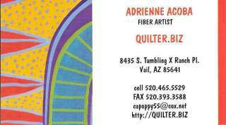 Adrienne Acoba - Quilter