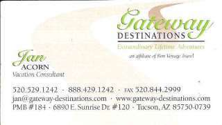 Gateway Destinations - Jan Acorn