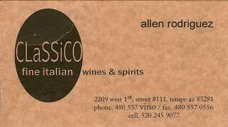 Classico Fine Italian Wines and Spirits