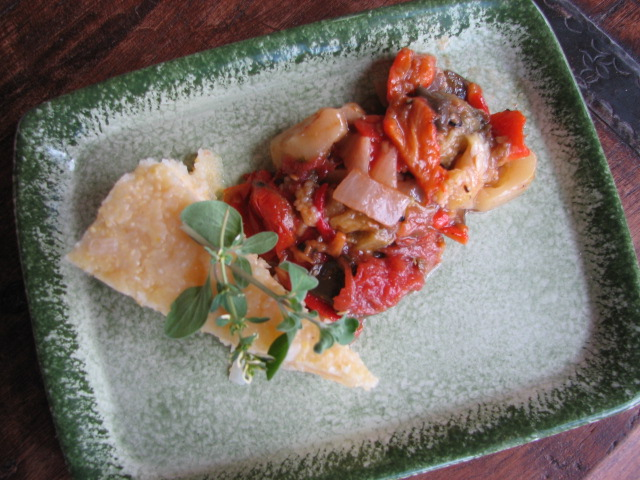 polenta and ratatouille